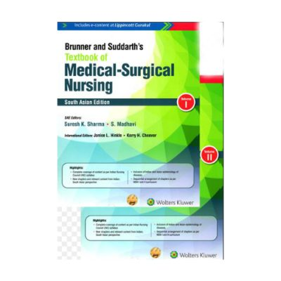 Brunner And Suddarth's Textbook Of Medical Surgical Nursing 1st edition