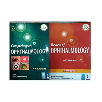 Comprehensive Ophthalmology+ Review Of Ophthalmology 7th edition by AK Khurana