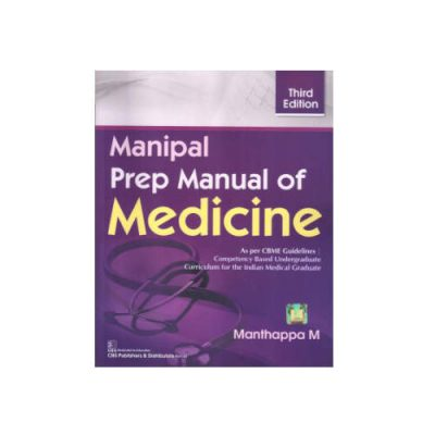 Manipal Prep Manual Of Medicine By Manthappa (3rd edition 2021)