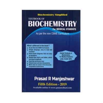 Textbook Of Biochemistry For Medical Students 5th edition by R. Prasad