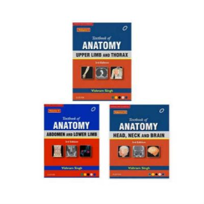 Textbook Of Anatomy By Vishram Singh ( Vol 1, 2 & 3)
