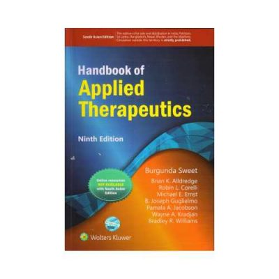 Handbook Of Applied Therapeutics 9th edition by Sweet